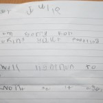 Maxi's first letter of appology!