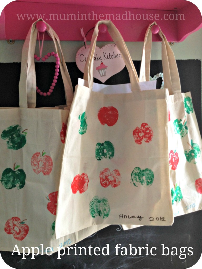 apple fabric bags
