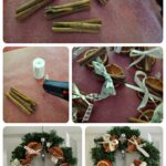 Christmas decorating with dried orange slices