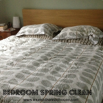 Spring cleaning in the bedroom
