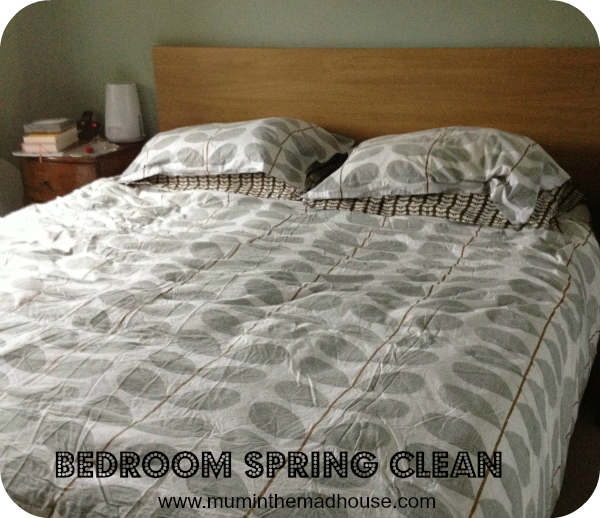 bedroom spring clean