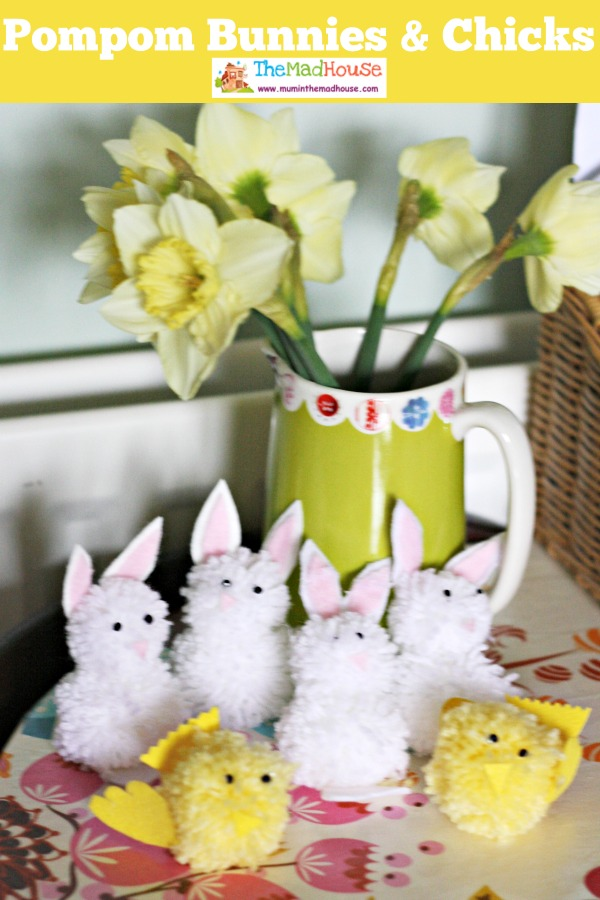 pompom bunnies and chicks