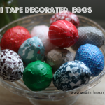 Eggs decorated with washi tape