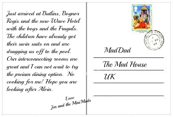 blank postcard back