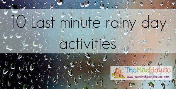 rainyday activities