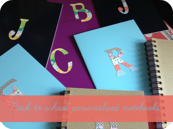 baclk to school personalised notebooks