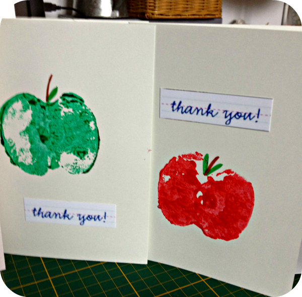 apple print thankyou cards
