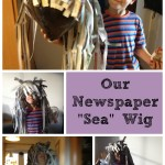 Make a newspaper wig