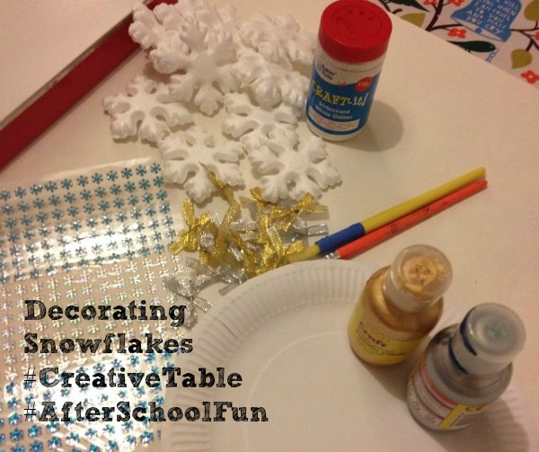 decorating snowflakes