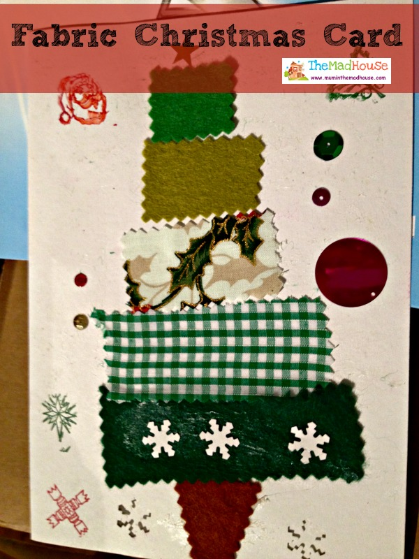 fabric Christmas card