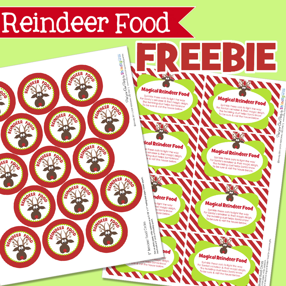 How To Make Reindeer Food Free Printable Reindeer Food Poem Tag | Apps ...