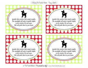 vintage rudolph fancy labels - lisa