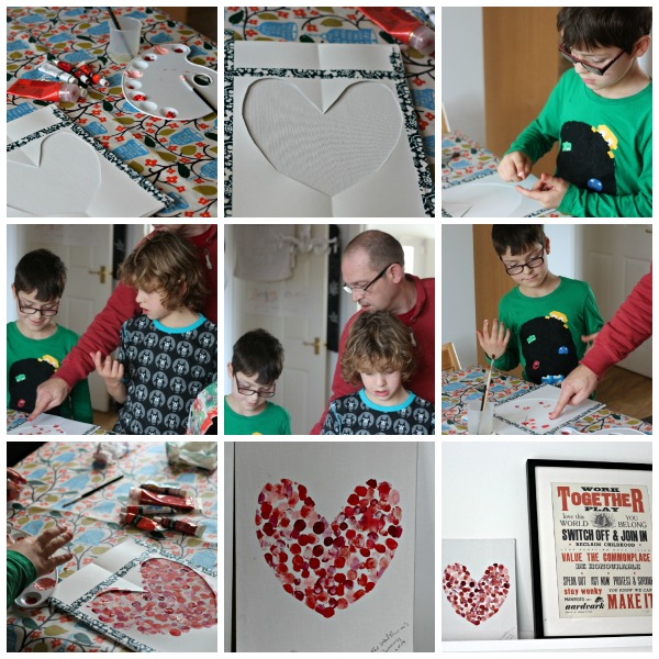 heart art collage