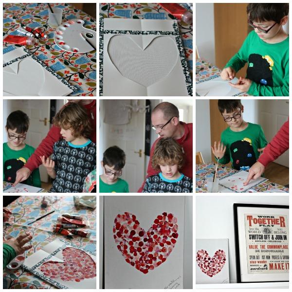 heart art collage