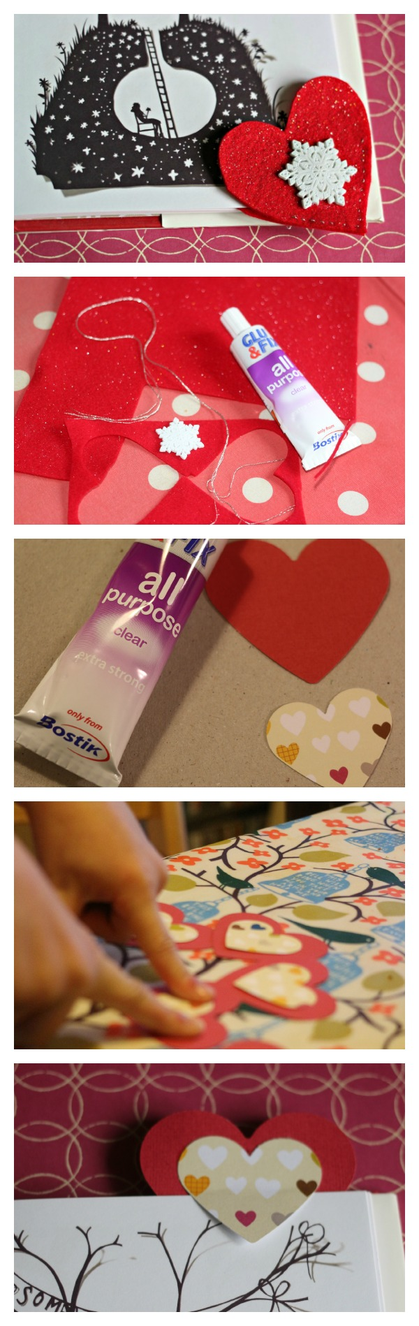 heart bookmarks for valentines day