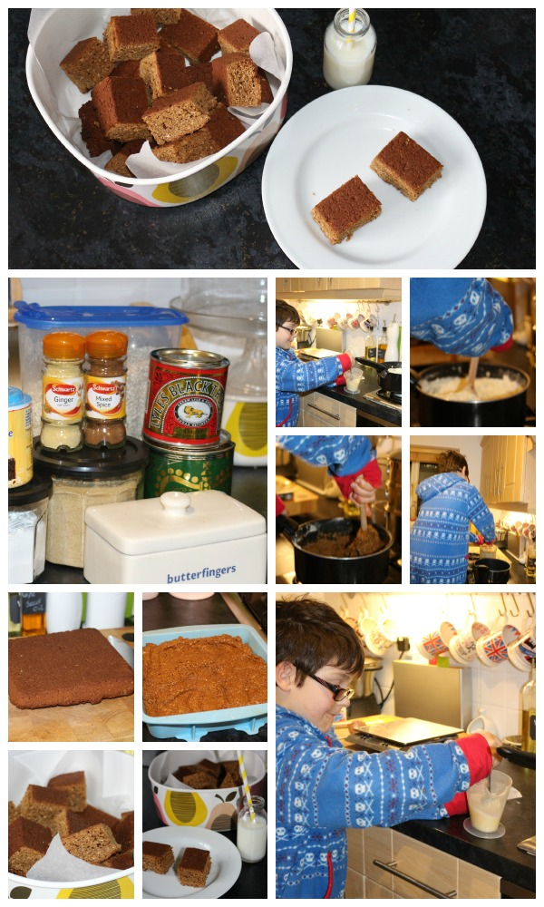 Yorkshire parkin collage