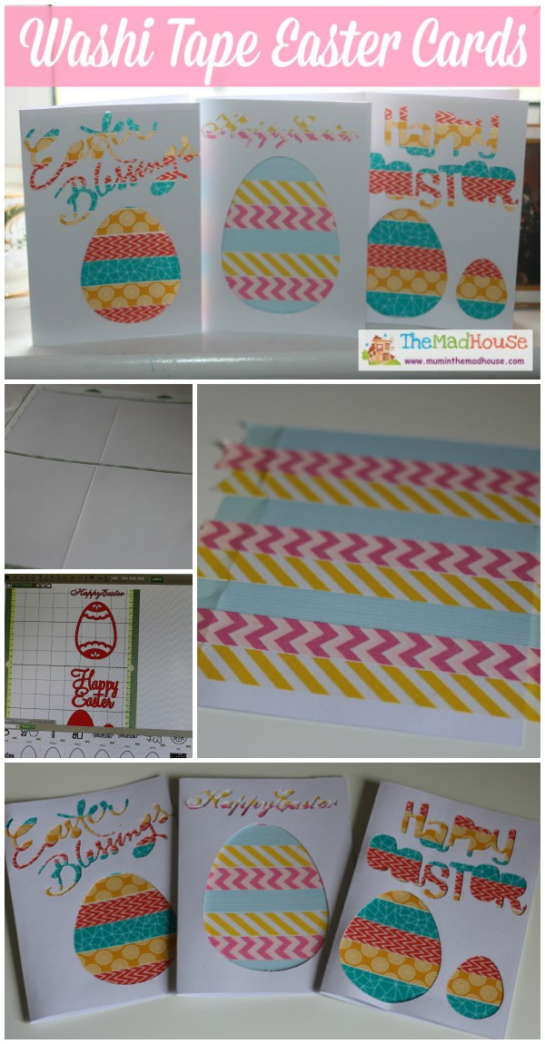 washi tape appature easter cards