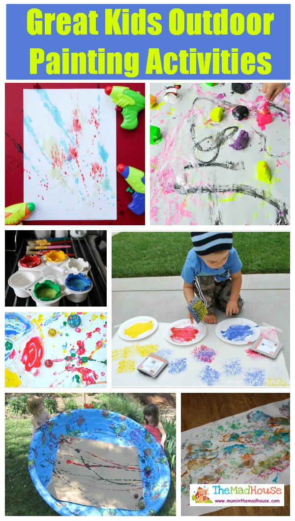 Great Kids Outdoor Painting Activities
