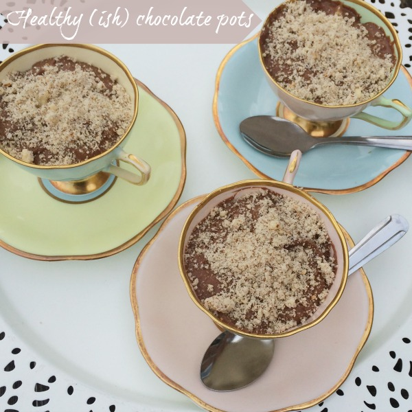 Healthyish chocolate pots