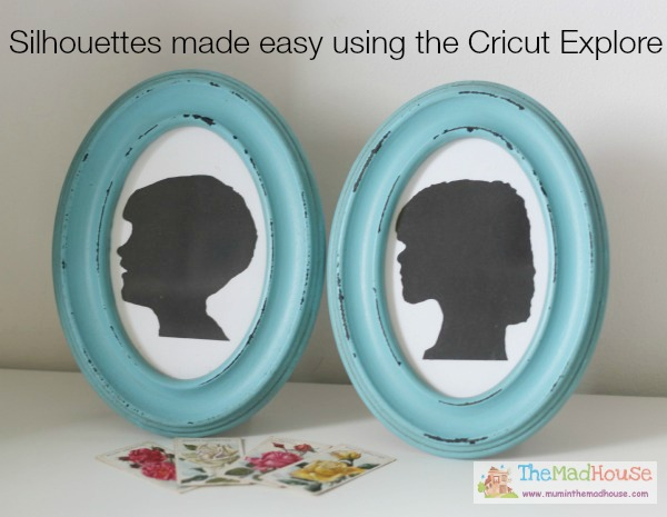 Silhouettes made easy using the Cricut Explore 1