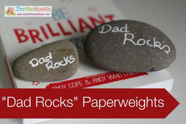 dad rocks paperweights