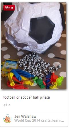 football soccer ball pinata
