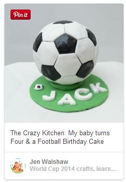 soccer football cake