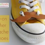 Leather lace-on shoe mustaches