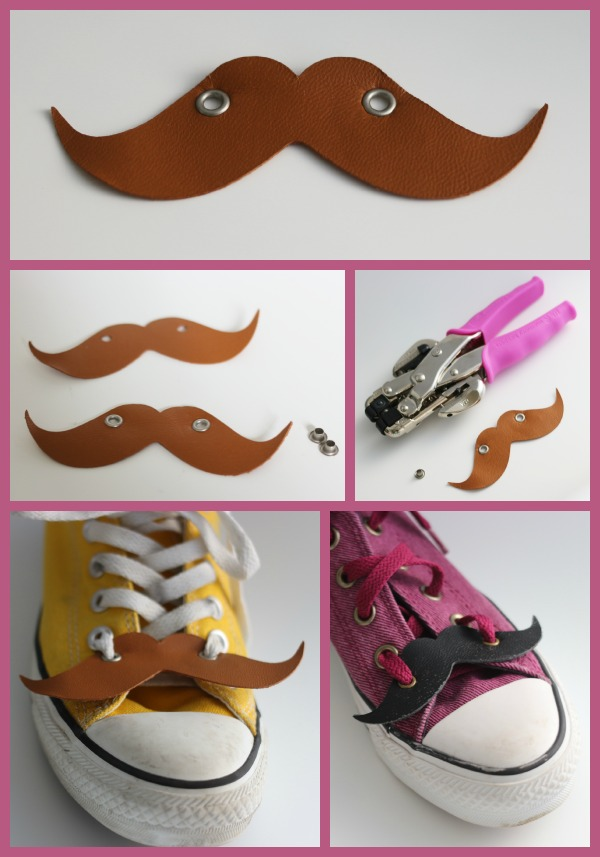 shoe moustache collage
