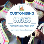 Decorating shoes with fabric pens. A perfect tween craft