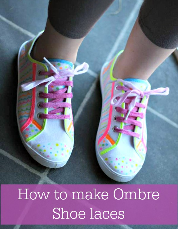 how to make ombre shoe laces
