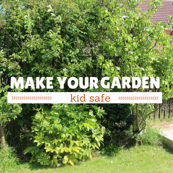 make your garden kid safe