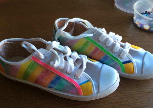 rainbow pastel shoes