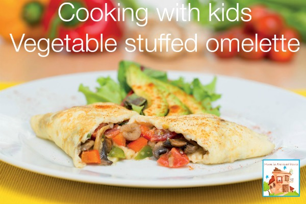 vegetable stuffed omelette