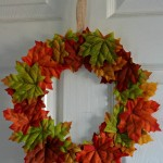 Paper plate Autumn/Fall leaf wreaths