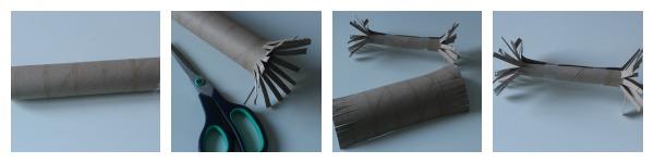 Cardboard tube printing wand