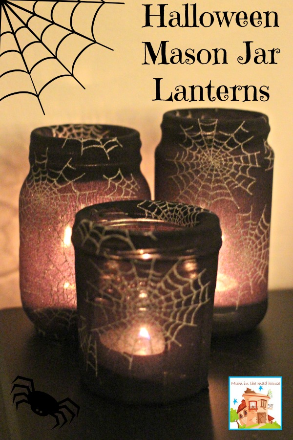 Halloween Crafts Mason Jar Lanterns
