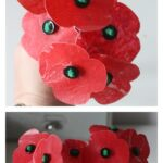 Melted wax poppy craft, a remembrance day activity