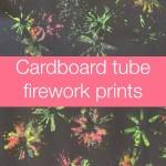 Cardboard Tube Firework Art