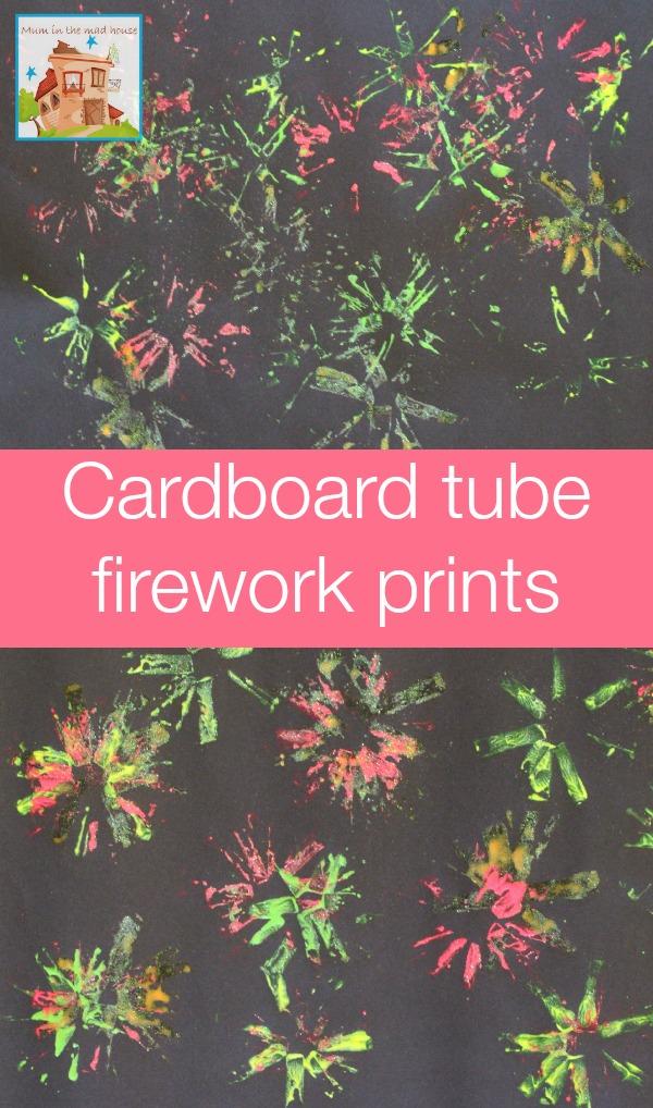 cardboard tube firework prints
