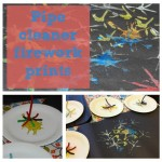 Pipecleaner Firework Prints