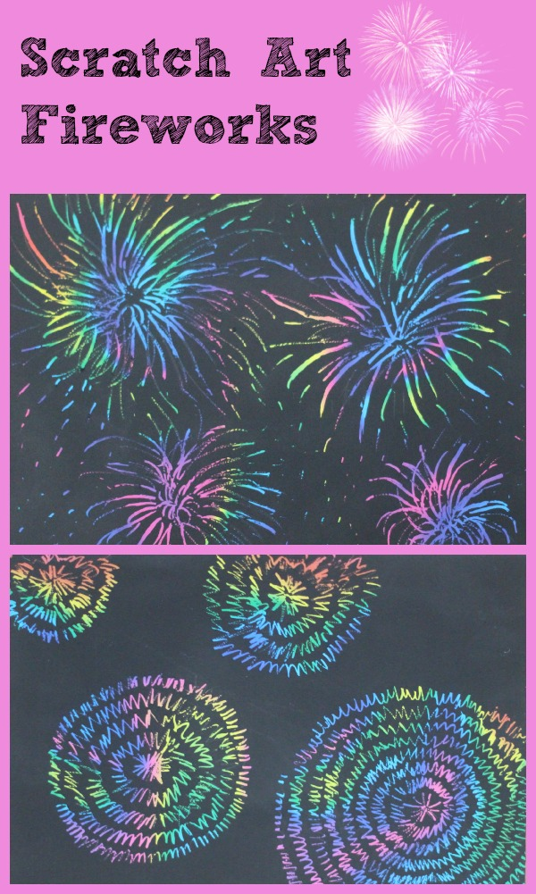 scratch art fireworks