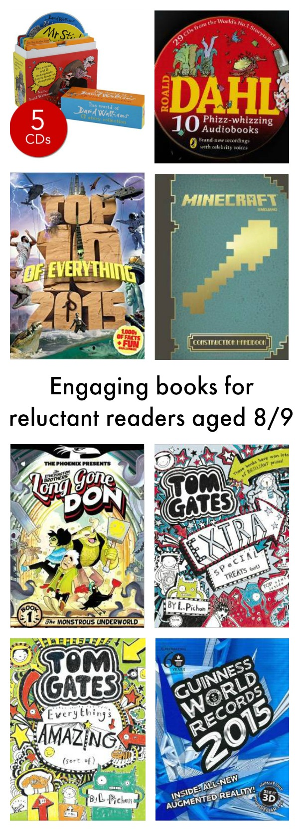 Engaging books for reluctant readers aged 89