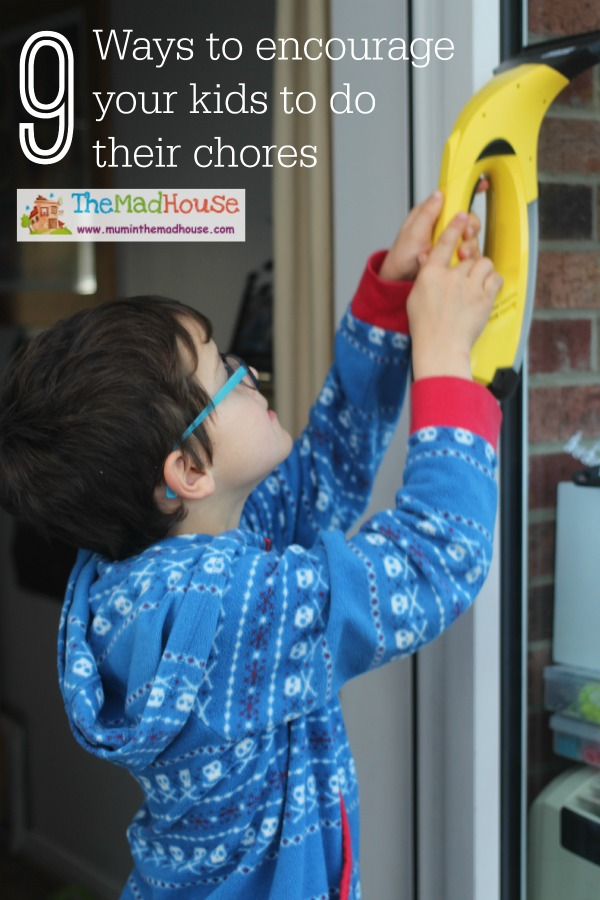 Ways to encourage your kids to do chores