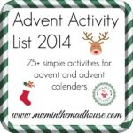 Our ultimate advent activity list 2014