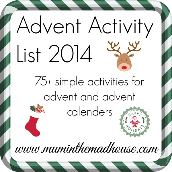advent activity list 2014