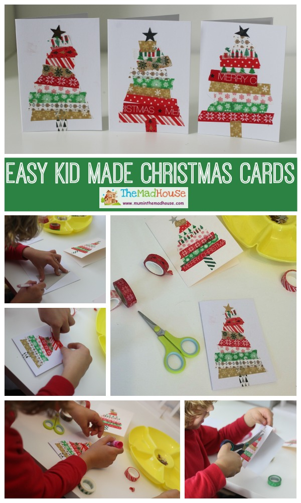 easy kid made christmas cards