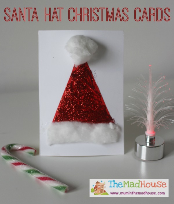 santa hats christmas cards