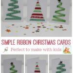 Easy Ribbon Christmas for kids to make