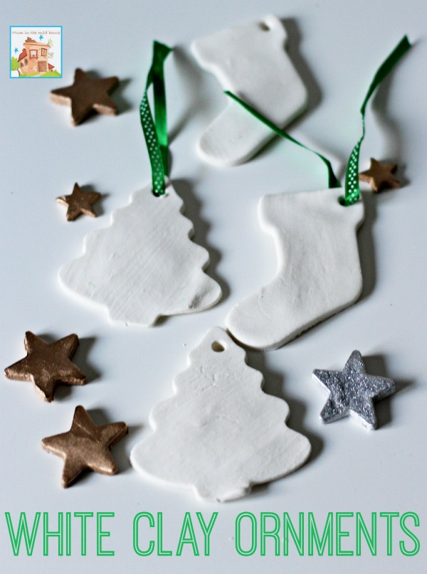 white clay ornaments